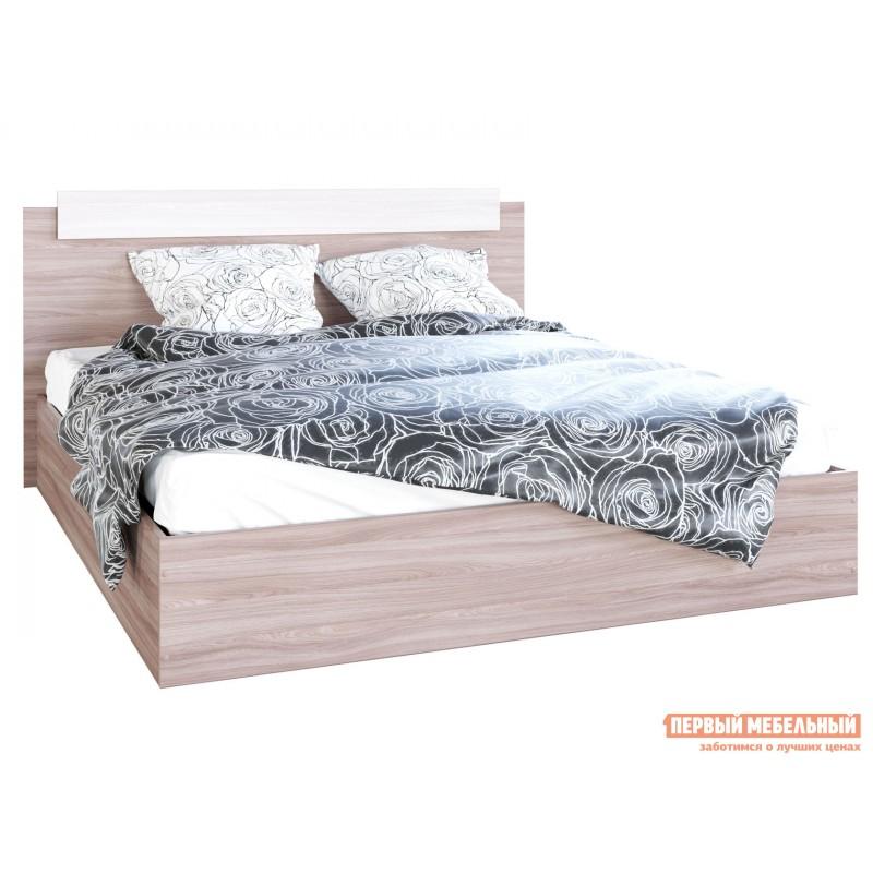 Односпальная кровать  Кровать Эко Ясень шимо светлый / Ясень шимо темный, 1200 Х 2000 мм