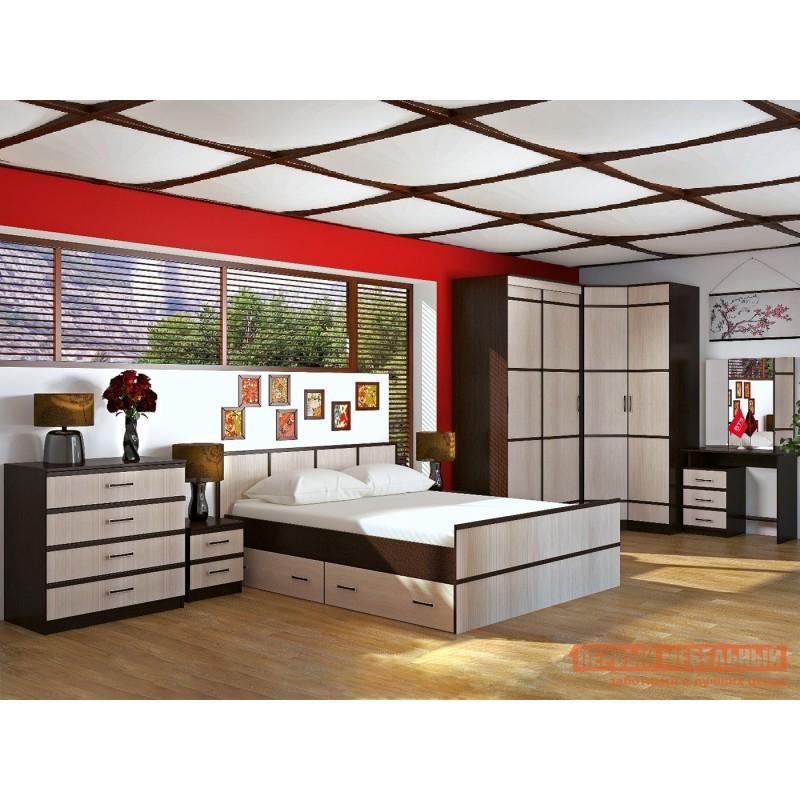 Двуспальная кровать  Кровать Сакура Венге / Лоредо, 160х200 см (фото 7)