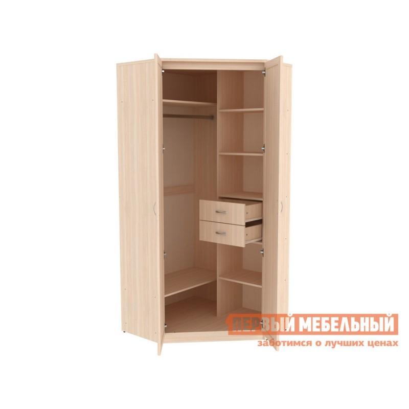 Распашной шкаф  Шкаф угловой Мерлен 403 Молочный дуб, Без зеркала (фото 2)
