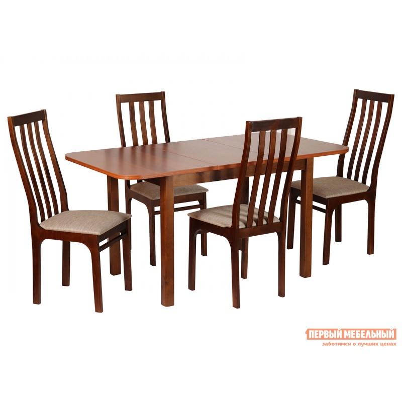Обеденная группа для столовой и гостиной  Обеденная группа Франц 3 Стол + 4 стула Грецкий орех / Мария Ноче