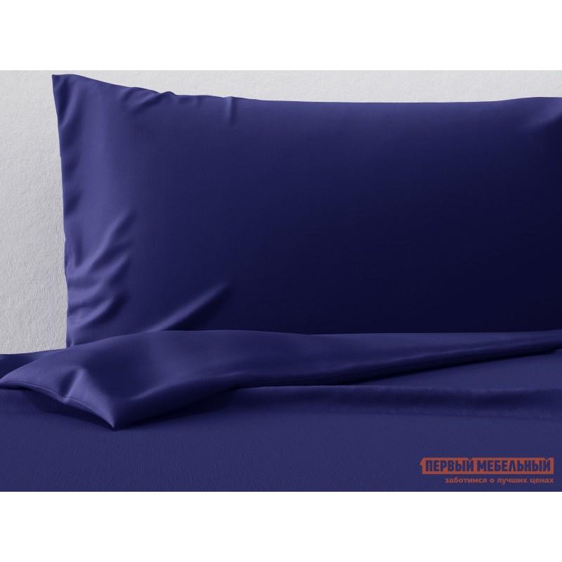 Наволочка  Комплект наволочек (2 шт.) сатин (синий ОСНОВА СНОВ) Синий, сатин, 50 Х 70 см
