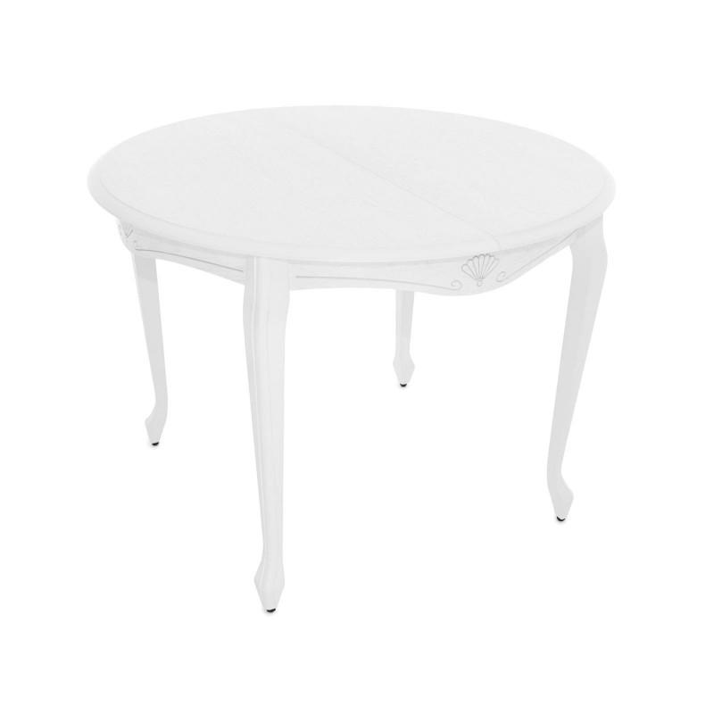 Кухонный стол  Кабриоль М Тон 9, Эмаль белая