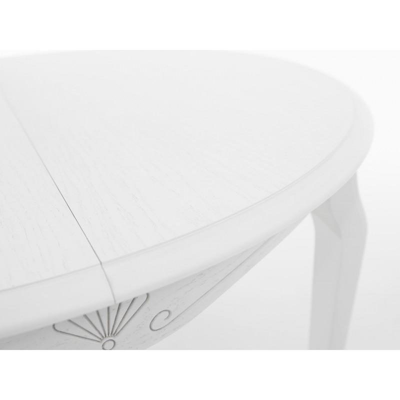 Кухонный стол  Кабриоль М Тон 9, Эмаль белая (фото 6)