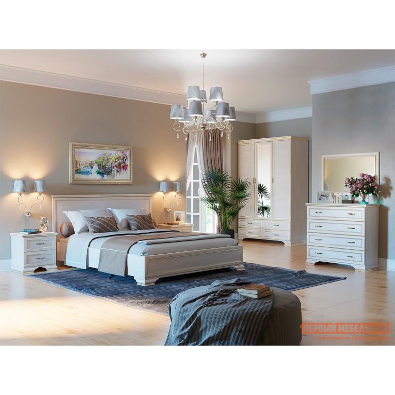 Двуспальная кровать  Кровать с подъемным механизмом Сиена Бодега белый, патина золото, 160х200 см (фото 4)