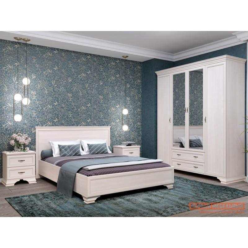 Двуспальная кровать  Кровать с подъемным механизмом Сиена Бодега белый, патина золото, 160х200 см (фото 5)
