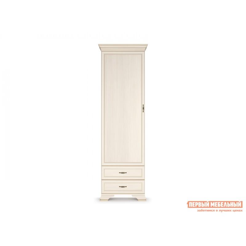 Шкаф распашной  Шкаф - пенал Сиена Бодега белый, патина золото (фото 2)
