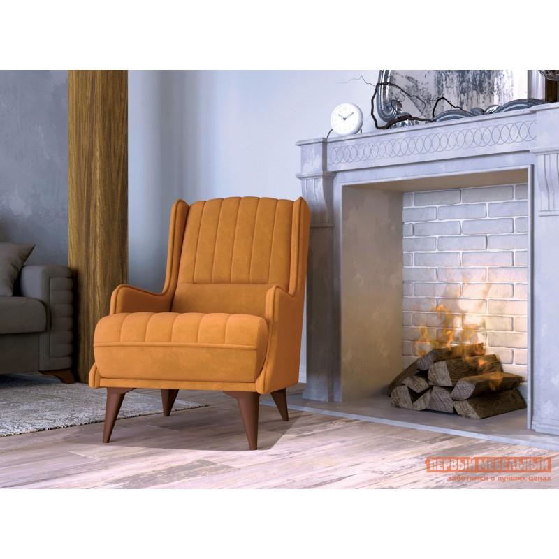 Кресло  Болеро Шафрановый, иск. замша (фото 2)