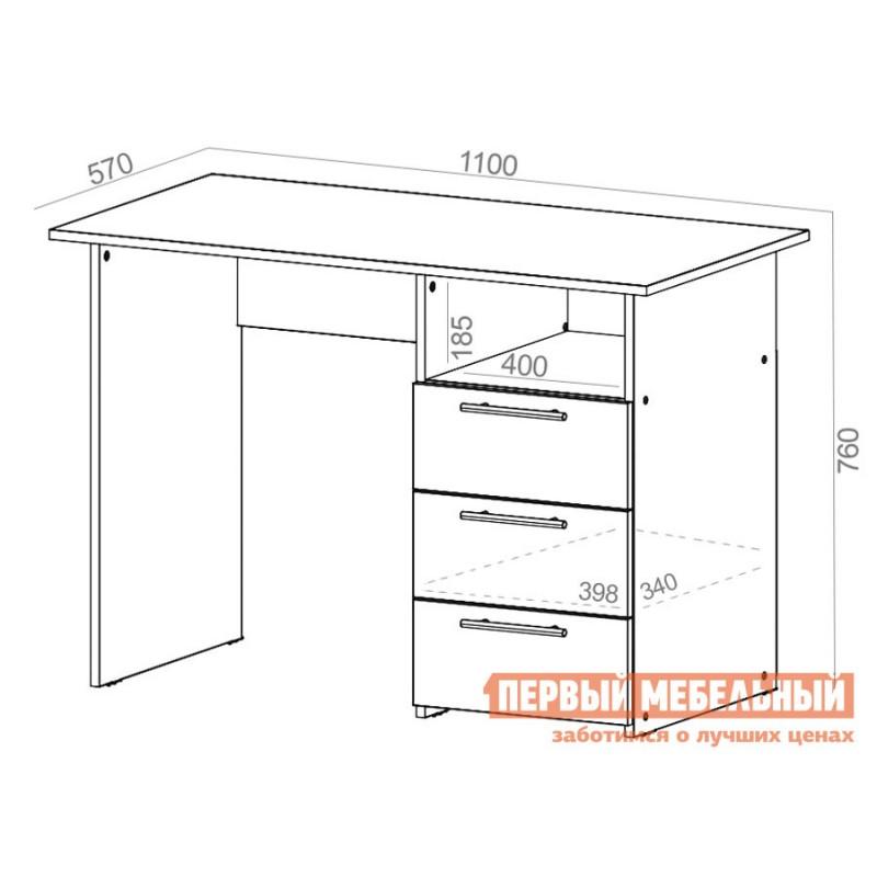 Компьютерный стол  Стол письменный с ящиками 1100 Венге (фото 2)