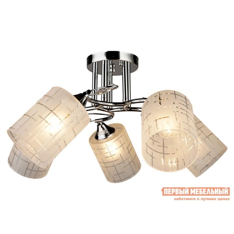 Потолочная люстра  Люстра потолочная MD.3808-5-S CH 5*60Вт E27 Хром / Прозрачный