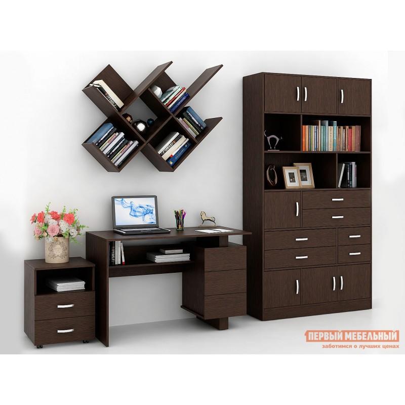 Компьютерный стол  Ренцо-2 + Либерти-61 + Файн-172 + Альба-2 Венге