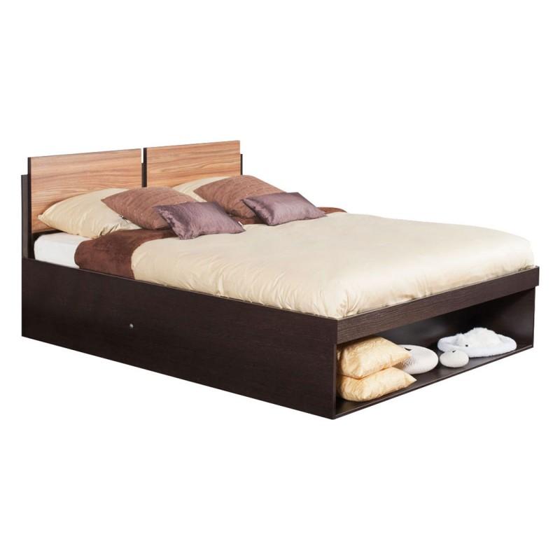 Двуспальная кровать  HYPER (спальня) Кровать 1400 Х 2000 мм, Венге / Палисандр