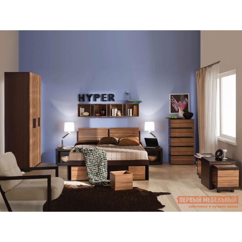 Двуспальная кровать  HYPER (спальня) Кровать 1400 Х 2000 мм, Венге / Палисандр (фото 3)