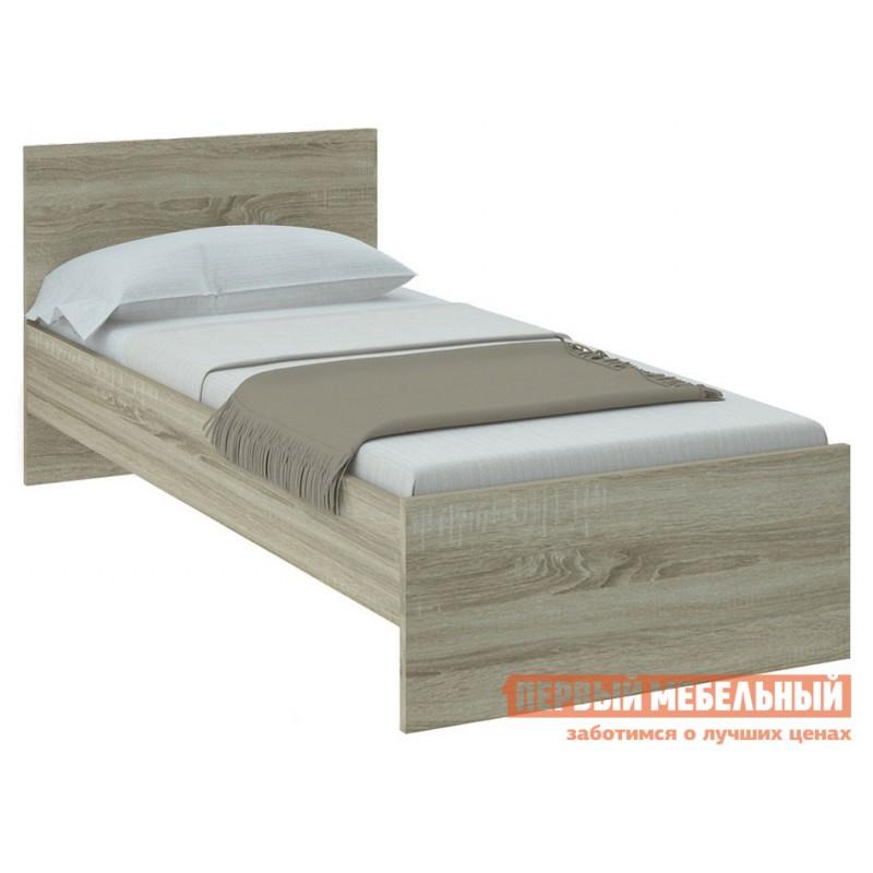 Односпальная кровать  НИКОЛЬ кровать Дуб Сонома, 900 Х 2000 мм, С основанием
