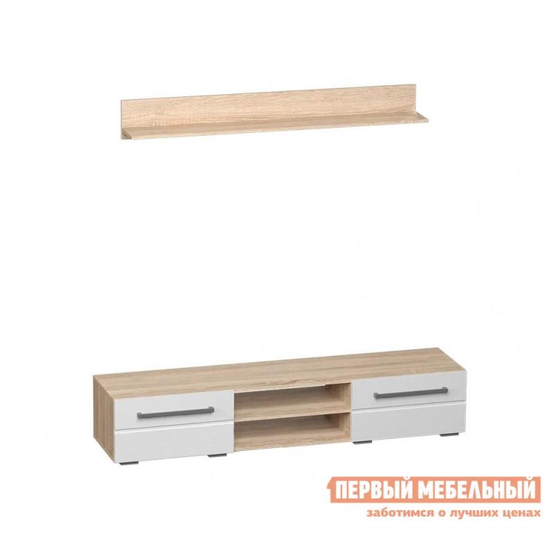 Гостиная  Милан ГС К1 Дуб сонома / Белый глянец (фото 2)