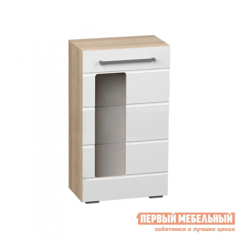 Гостиная  Милан ГС К1 Дуб сонома / Белый глянец (фото 4)