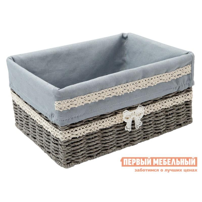 Корзина для хранения  Бантик Дерево, бумажная лента / Серый, ткань, M