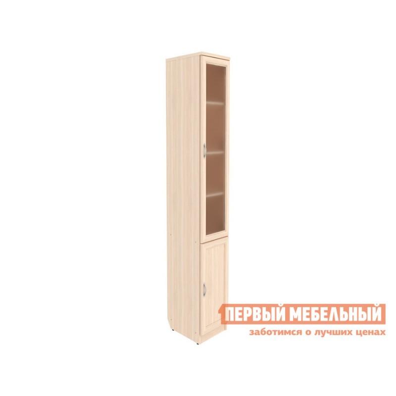 Шкаф-витрина  Мерлен 201 Молочный дуб