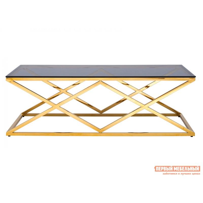 Журнальный столик  ECT-026 Темное стекло / Сталь, золото (фото 2)