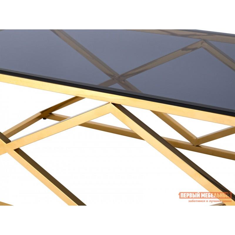 Журнальный столик  ECT-026 Темное стекло / Сталь, золото (фото 4)