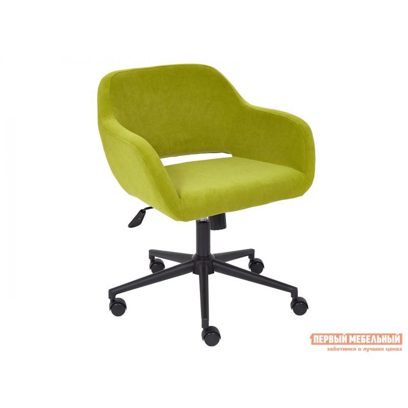 Офисное кресло  Офисное кресло MODENA Оливковый, флок / Черный металл