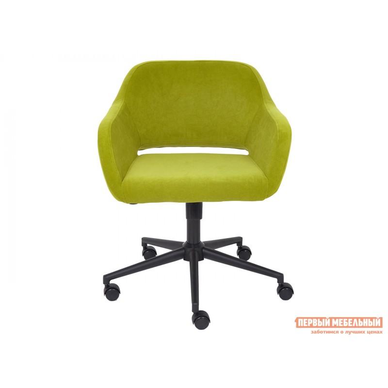 Офисное кресло  Офисное кресло MODENA Оливковый, флок / Черный металл (фото 2)