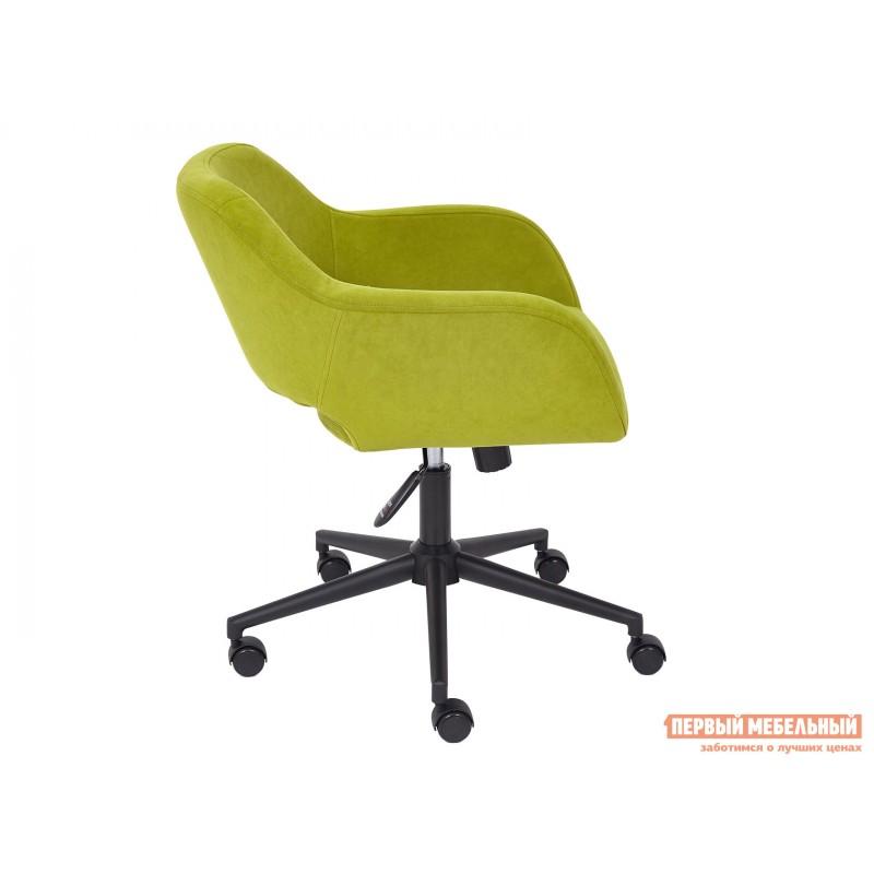Офисное кресло  Офисное кресло MODENA Оливковый, флок / Черный металл (фото 3)