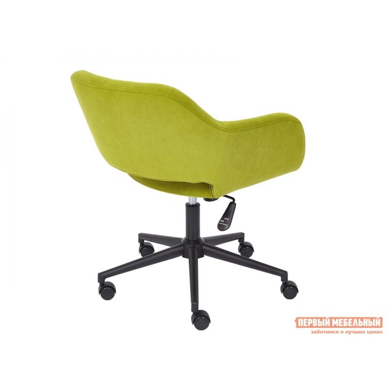 Офисное кресло  Офисное кресло MODENA Оливковый, флок / Черный металл (фото 4)