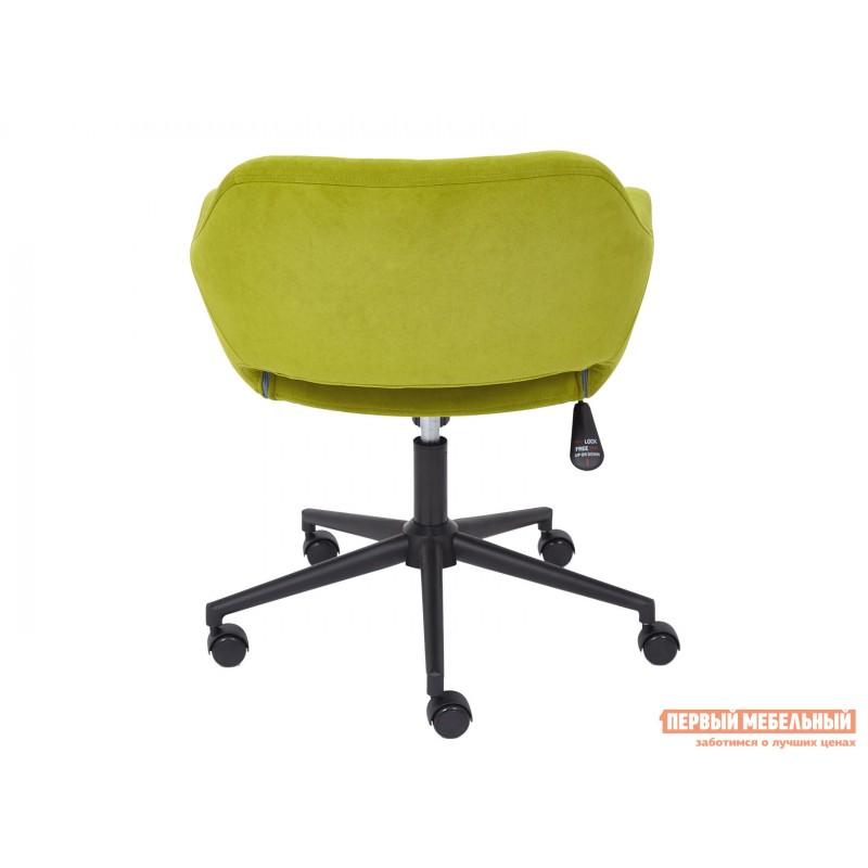 Офисное кресло  Офисное кресло MODENA Оливковый, флок / Черный металл (фото 5)
