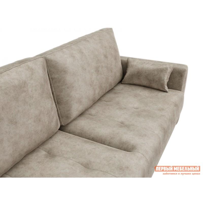 Прямой диван  Диван Тиволи Люкс Крем, велюр (фото 4)