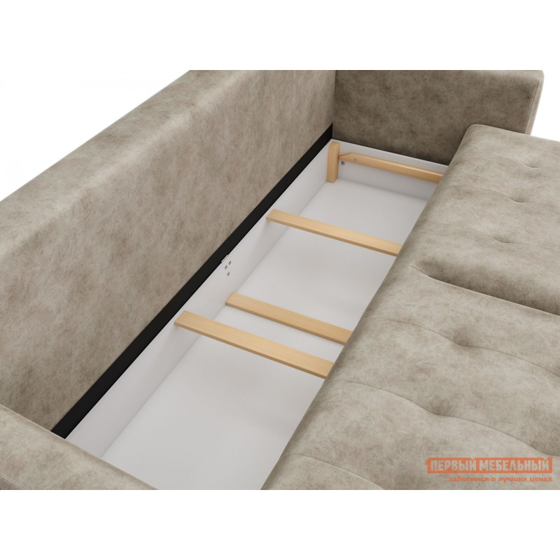 Прямой диван  Диван Тиволи Люкс Крем, велюр (фото 6)