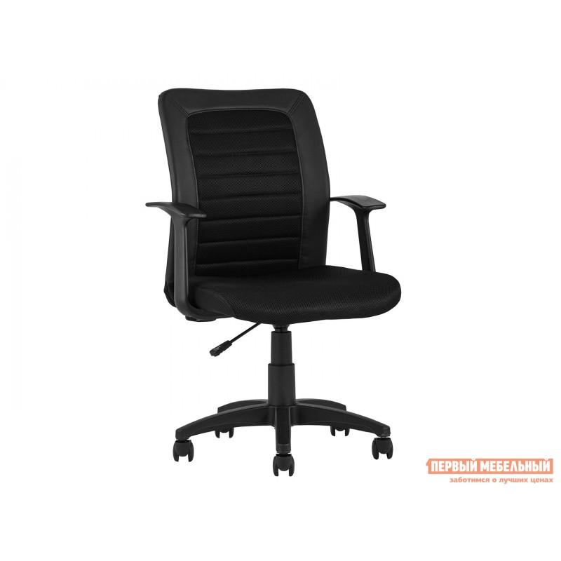 Офисное кресло  КреслоофисноеTopChairsBlocks Черный, экокожа, Черный-черный, сетка