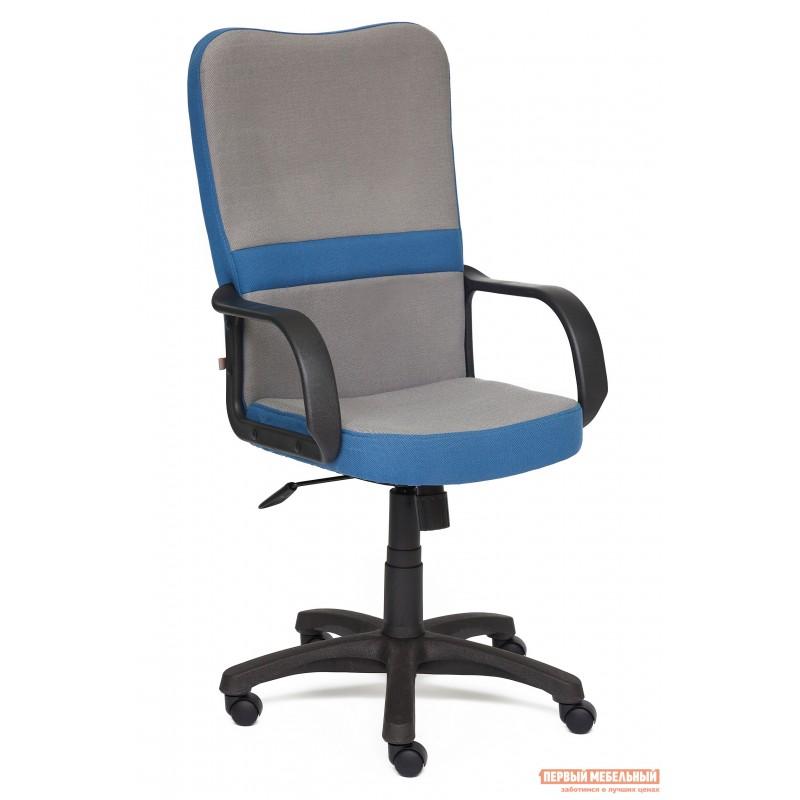 Кресло руководителя  CH757 Серый С27 / Синий С24