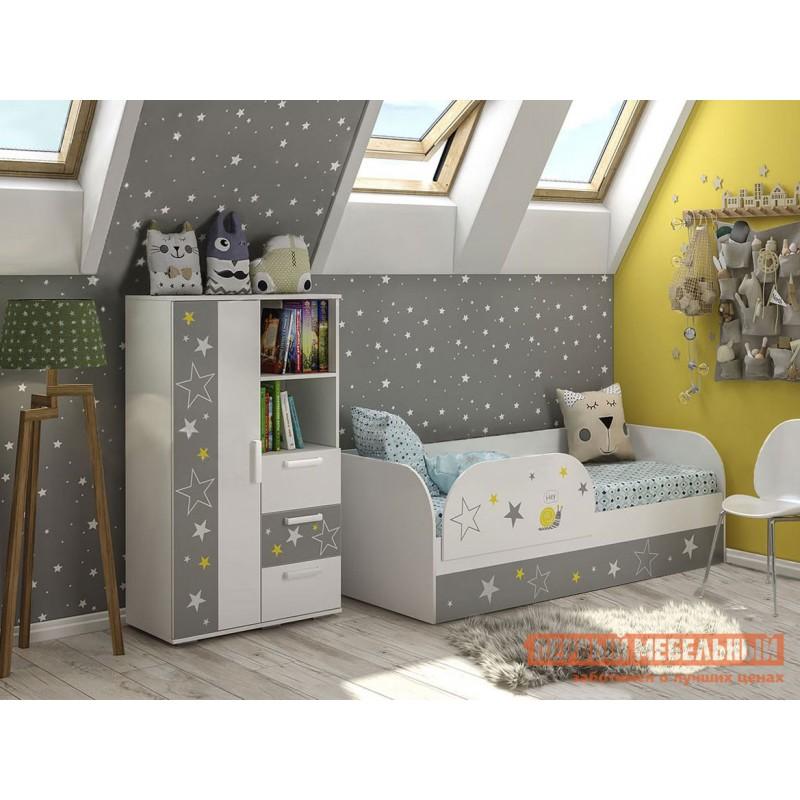 Шкаф детский  Трио Шкаф многофункциональный ШК-10 Белый, звездное детство (фото 3)
