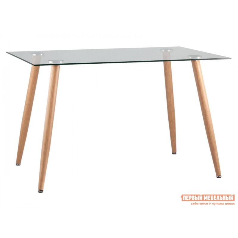 Кухонный стол  Стол Освальд T022 + T022 legs Прозрачное стекло / Металл