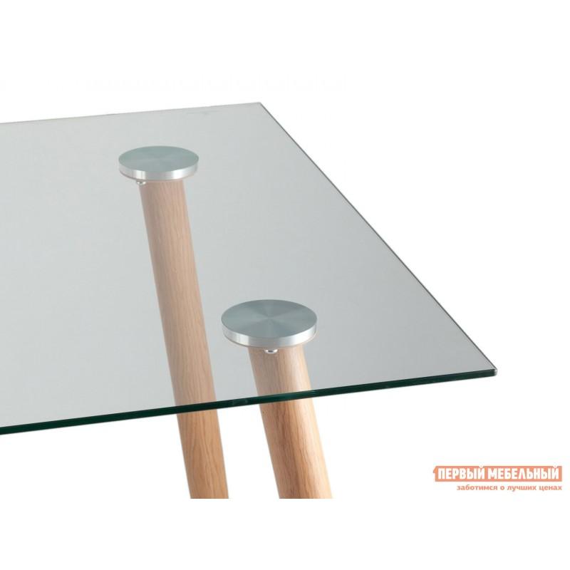 Кухонный стол  Стол Освальд T022 + T022 legs Прозрачное стекло / Металл (фото 3)