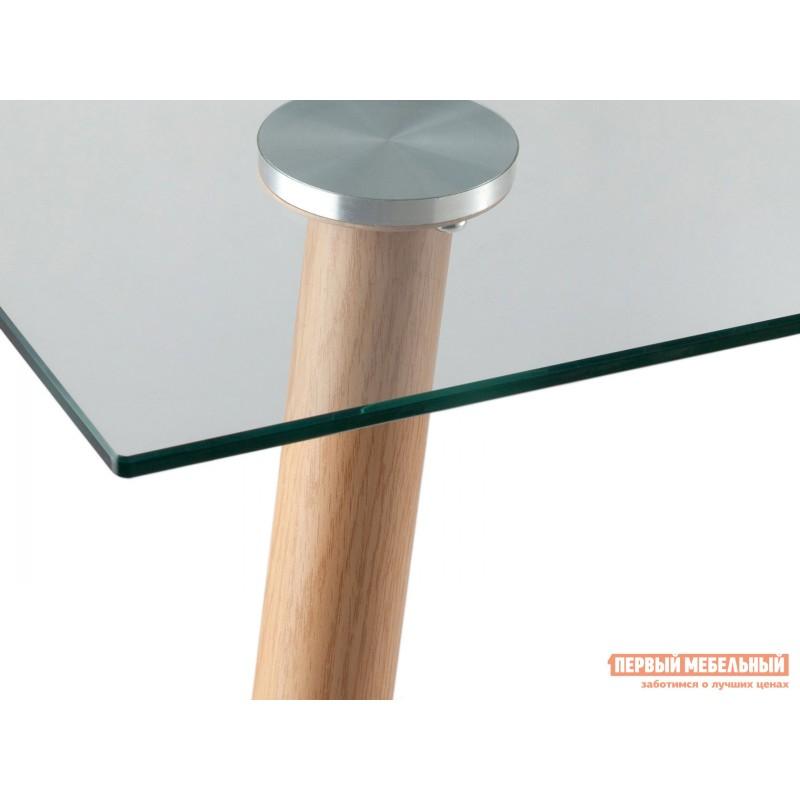 Кухонный стол  Стол Освальд T022 + T022 legs Прозрачное стекло / Металл (фото 4)