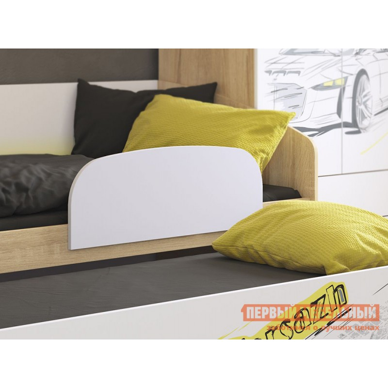 Детская кровать  Кровать Форсаж MKF-07.1623 Дуб сонома / Белый, С бортиком (фото 2)