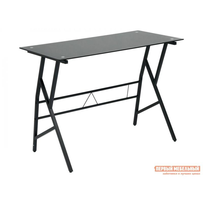 Письменный стол  GD-02 Черный, металл / Черное стекло