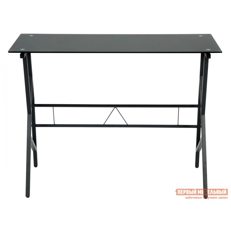 Письменный стол  GD-02 Черный, металл / Черное стекло (фото 2)