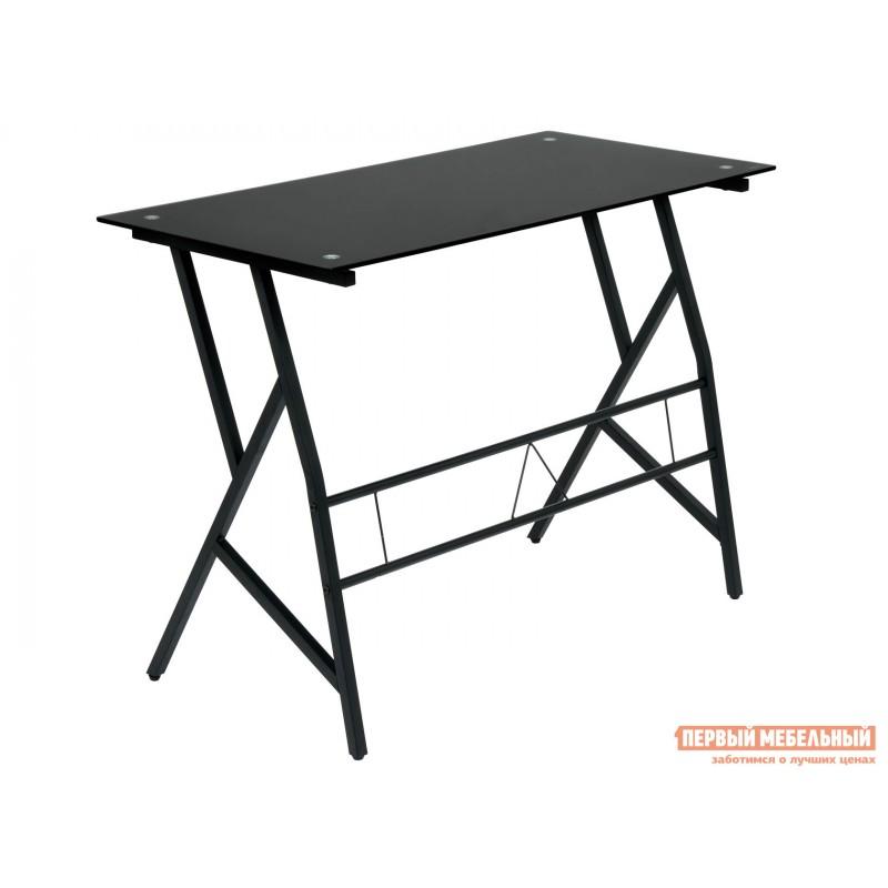 Письменный стол  GD-02 Черный, металл / Черное стекло (фото 4)