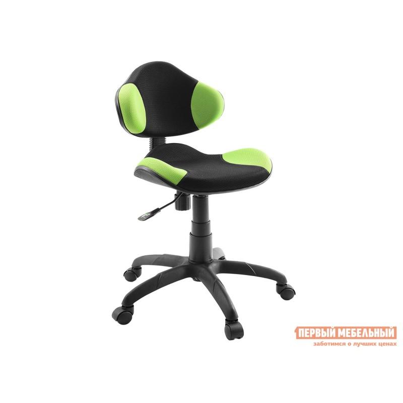 Детское компьютерное кресло  Кресло детское Логика Dikline KD32 Зеленый / Черный, сетка