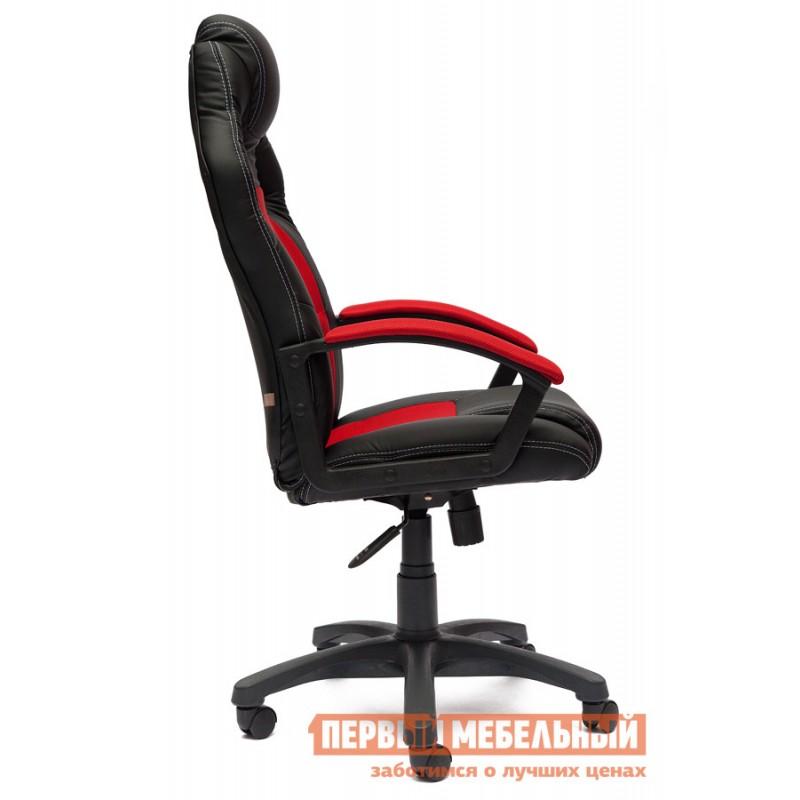 Игровое кресло  Driver Иск.кожа черная / Ткань красная, 36-6/08 (фото 2)