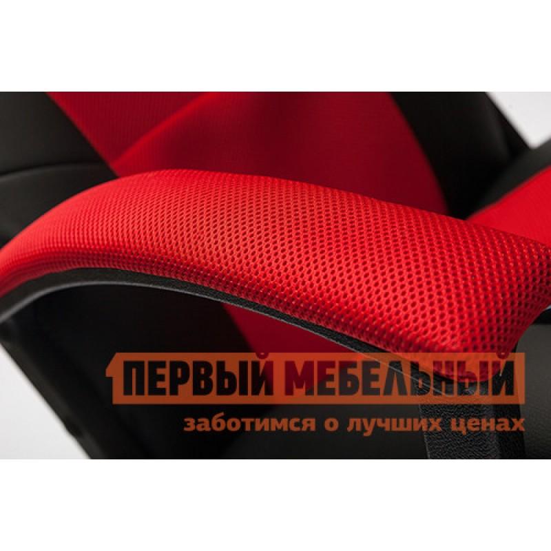 Игровое кресло  Driver Иск.кожа черная / Ткань красная, 36-6/08 (фото 4)