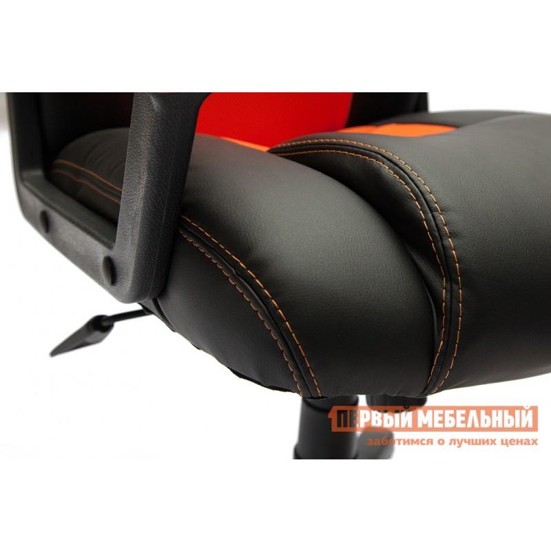 Игровое кресло  Driver Иск.кожа черная / Ткань красная, 36-6/08 (фото 5)
