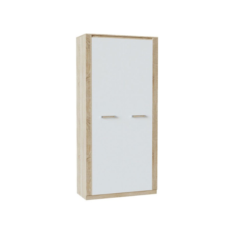 Шкаф распашной  Элегия ШК-152 Дуб Сонома / Белый глянец