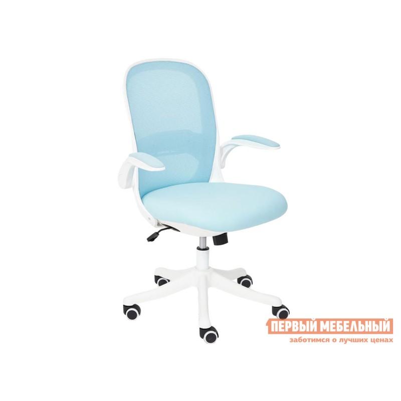 Офисное кресло  Happy white Голубой, ткань