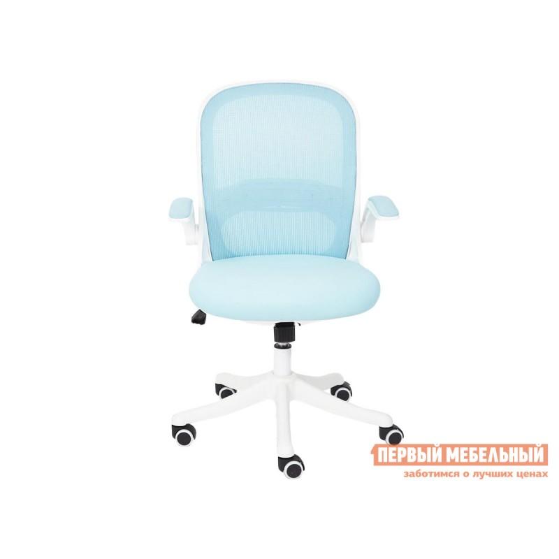 Офисное кресло  Happy white Голубой, ткань (фото 3)