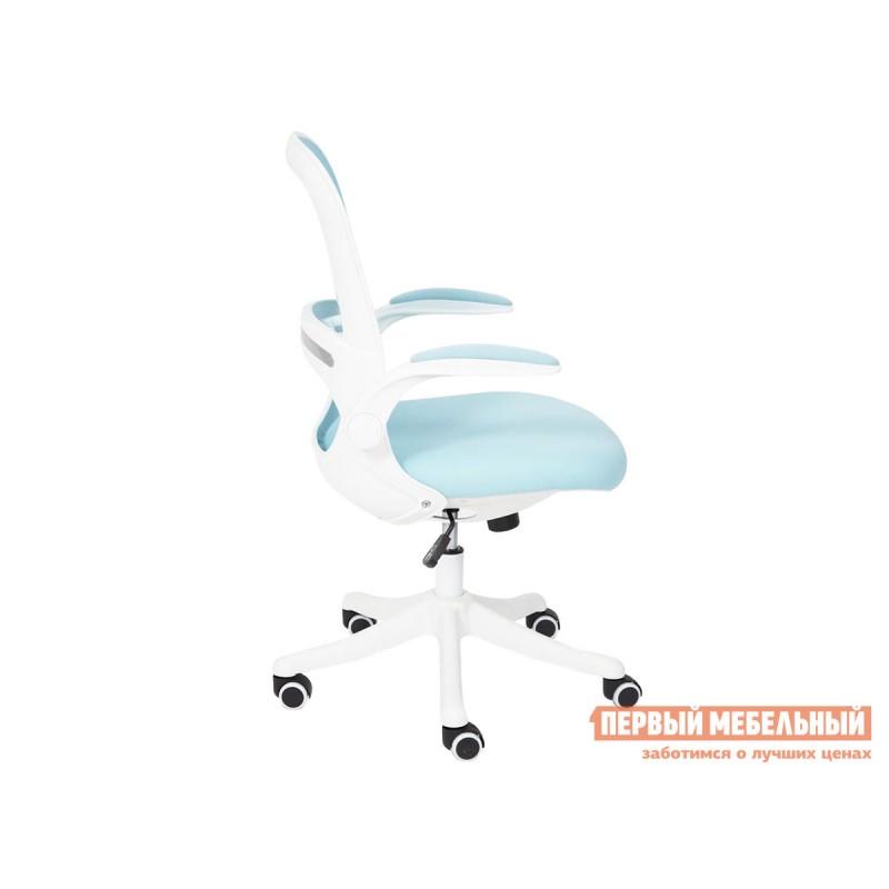 Офисное кресло  Happy white Голубой, ткань (фото 4)