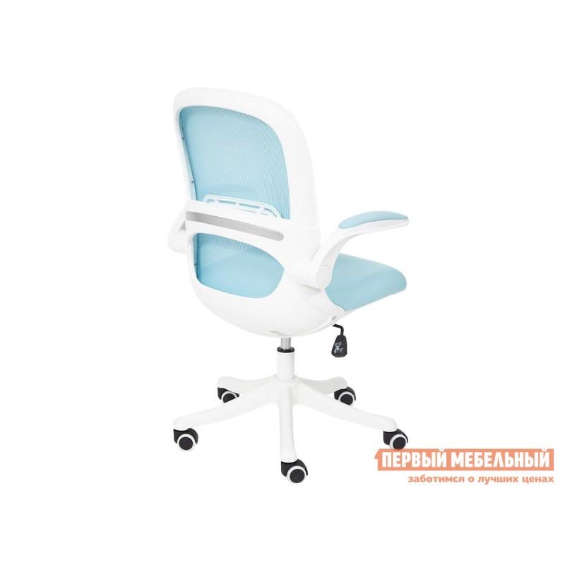 Офисное кресло  Happy white Голубой, ткань (фото 5)