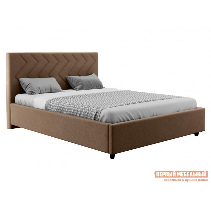 Двуспальная кровать  Диана ПМ Бежевый, велюр, 1800 Х 2000 мм